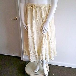 Yellow Cotton Full Skirt Sz 3X